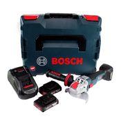 Bosch GWX 18V-10 C Akku Winkelschleifer 18V 125mm brushless X-LOCK + 2x Akku 2,0Ah + Ladegerät + L-BOXX