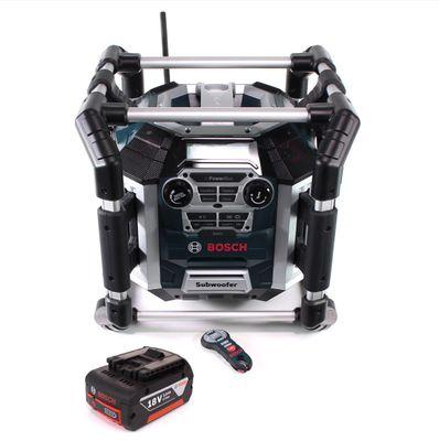 Bosch GML 50 Akku Radiolader Baustellenradio 18V 50W IP54 + 1x Akku 3,0Ah - ohne Schnellladegerät – Bild 2