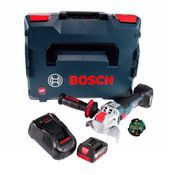 Bosch GWX 18V-10 C Akku Winkelschleifer 18V 125mm brushless X-LOCK + 1x Akku 5,0Ah + Ladegerät + Connectivity Modul + L-BOXX
