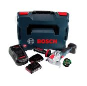 Bosch GWX 18V-10 C Akku Winkelschleifer 18V 125mm brushless X-LOCK + 2x Akku 2,0Ah + Ladegerät + Connectivity Modul + L-BOXX