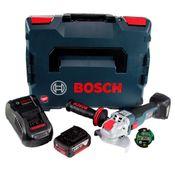 Bosch GWX 18V-10 C Akku Winkelschleifer 18V 125mm brushless X-LOCK + 1x Akku 4,0Ah + Ladegerät + Connectivity Modul + L-BOXX
