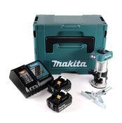 Makita DRT 50 RFJ Akku Multifunktionsfräse brushless 18V + 2x Akkus 3,0 Ah + Schnellladegerät im Makpac 3