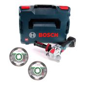 Bosch GWX 18V-10 C Akku Winkelschleifer 18V 125mm brushless X-LOCK + 2x Diamant Trennscheibe X-LOCK 125x22,23mm Best for Ceramic + L-BOXX