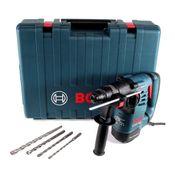 Bosch GBH 3-28 DRE Bohrhammer 800 Watt SDS plus im Koffer + 4 tlg. SDS plus Bohrer Set