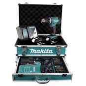 Makita DHP 453 RFX2 Akku Schlagbohrschrauber 18V 42Nm + 2x Akku 3,0Ah + Ladegerät + 96tlg. Bit Bohrer Set + Koffer