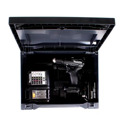Makita DHP 483 STX B Akku Schlagbohrschrauber 18V 40Nm + 1x Akku 5,0Ah + Ladegerät + 100tlg. Bit Bohrer Set + Makbox – Bild 4