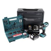Makita DDF 485 STX Brushless Akku Bohrschrauber 18V 50 Nm + 1x Akku 5,0Ah + Ladegerät + 100tlg. Bit Bohrer Set + Makbox