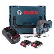 Bosch GST 18 V-LI B Akku Stichsäge 18V + 2x Akku 2,0Ah + Ladegerät + L-Boxx