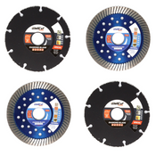 WellCut Diamant Trennscheiben Set 115x22,2mm mit Special ( 334 - 115 / 22 ) + Universal turbo ( 888 - 115 / 22 )