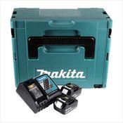 Makita Akku Power Source Kit mit 2x Akku 3,0 Ah + Ladegerät + Systemeinlage + Makpac 2