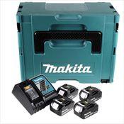 Makita Akku Power Source Kit mit 4x Akku 3,0 Ah + Ladegerät + Systemeinlage + Makpac 2