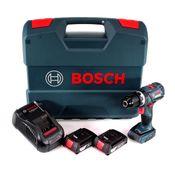 Bosch GSB 18V-60 C Akku Schlagbohrschrauber 18V 60Nm Brushless + 2x Akku 2,0Ah + Ladegerät + L-Case