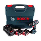 Bosch GSB 18V-60 C Akku Schlagbohrschrauber Brushless 18V 60Nm + 2x Akku 5,0Ah + Ladegerät + L-Case