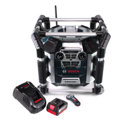 Bosch GML 50 Akku Radiolader Baustellenradio 18V 50W IP54 + 1x Akku 5,0Ah + Ladegerät