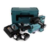 Makita DHR 182 RWFJ Akku Bohrhammer 18V 1,7J SDS-plus Brushless + 2x Akku 3,0Ah + Ladegerät + Staubabsaugung + Makpac