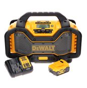 DeWalt DCR 027 P1 Akku Radio DAB+ 10,8-18,0 V + 1x Akku 5,0 Ah + Ladegerät