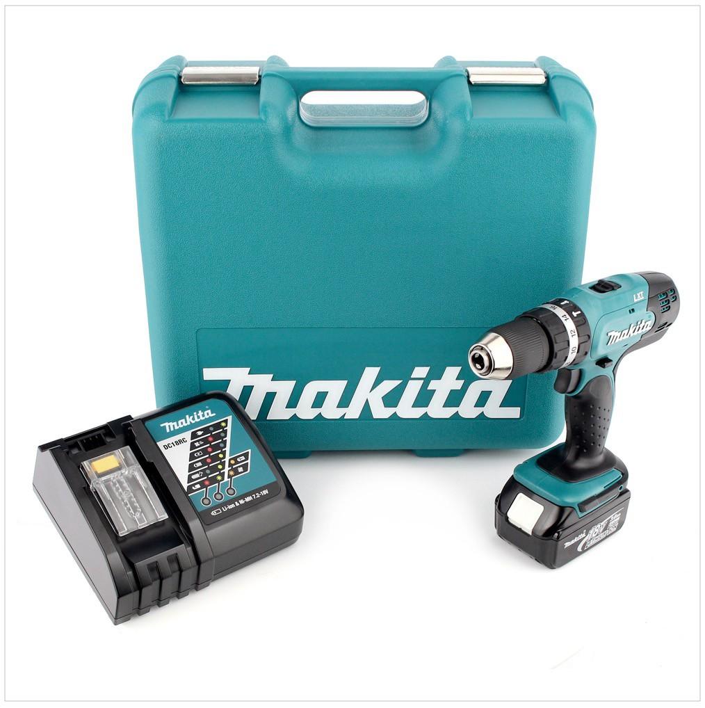 Ladegerät für Makita Schlagbohrschrauber BHP453 Original 7,2V-18V   Blau