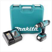 Makita DHP 453  RFTK Akku Schlagbohrschrauber 18V 42Nm + 1x Akku 3,0Ah + Ladegerät + 101 tlg. Werkzeugkoffer