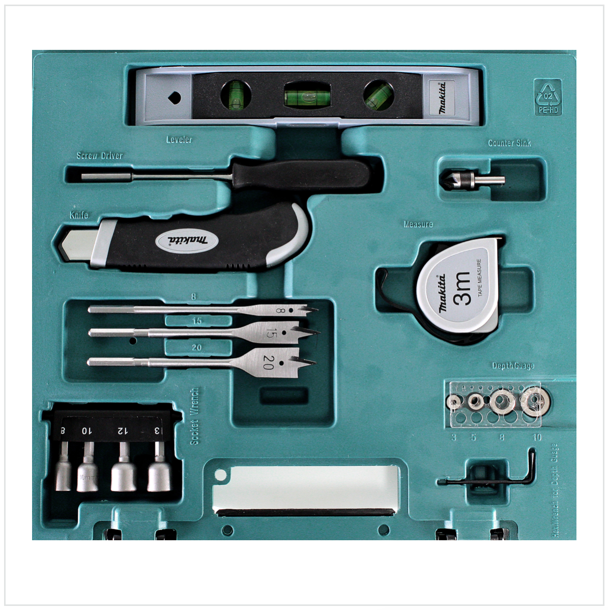 makita 104 tlg bit bohrer und zubeh r set d 31778 im koffer elektrowerkzeug zubeh r bit bohrer. Black Bedroom Furniture Sets. Home Design Ideas