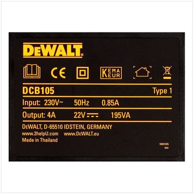 Dewalt DCB 105 Chargeur de 10,8V à 18V pour batterie Li-Ion – Bild 4