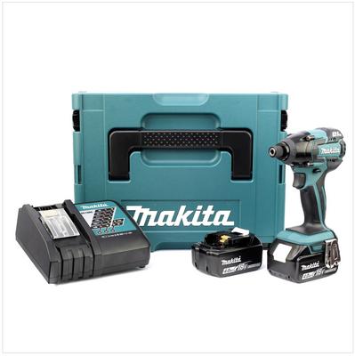 Makita DTD 129 RMJ 18 V Akku Schlagschrauber im MAKPAC inkl. 2x BL1840 Akku + DC18RC Ladegerät – Bild 2