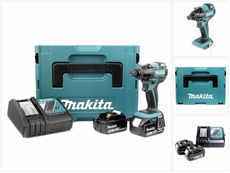 Makita DTD 129 RMJ 18 V Akku Schlagschrauber im MAKPAC inkl. 2x BL1840 Akku + DC18RC Ladegerät – Bild 1