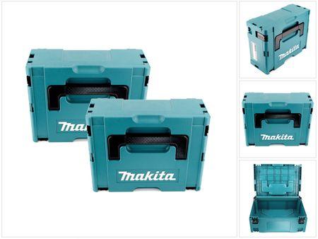 2x Makita Kunststoff Werkzeug Koffer MAKPAC 2 - ohne Einlage – Bild 1