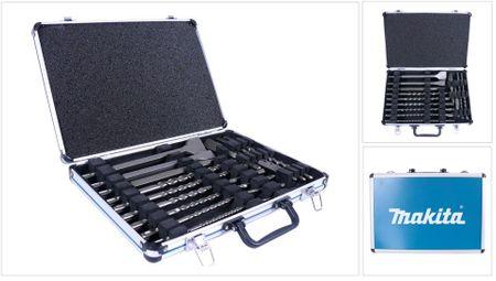 Makita D-42444 SDS-Plus Bohrer-Meißel-Set 17 tlg. im Alu Koffer – Bild 1