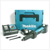 Makita BGD 800 RFJ Akku-Geradschleifer 18 V inkl. 2 Akkus BL 1830 und Ladegerät DC18RC