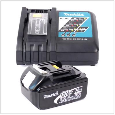 Makita Akku Power Set 18V mit 1x BL 1830 B 3,0 Ah Akku + DC 18 RC Ladegerät – Bild 3