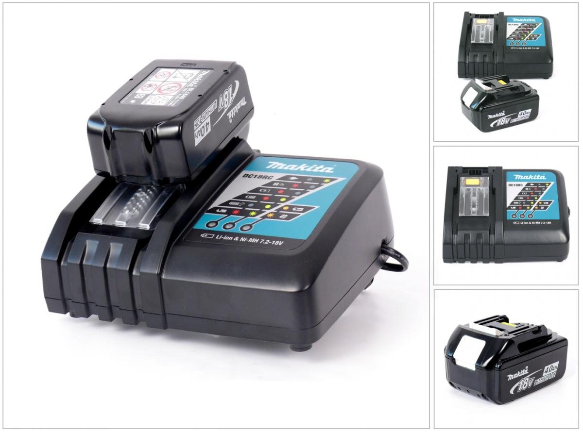 makita power set ladeger t dc18rc akku bl 1840 4 ah elektrowerkzeug zubeh r akkus. Black Bedroom Furniture Sets. Home Design Ideas