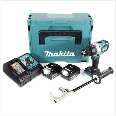 Makita DHP 481 RTJ 18V Akku Schlagbohrschrauber Brushless 115 Nm im Makpac mit 2x BL1850 5,0 Ah Akku und DC18RC Ladegerät – Bild 2