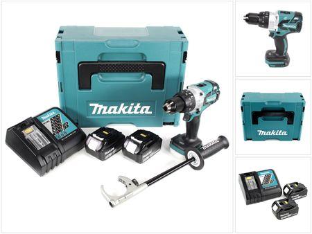 Makita DHP 481 RTJ 18V Akku Schlagbohrschrauber Brushless 115 Nm im Makpac mit 2x BL1850 5,0 Ah Akku und DC18RC Ladegerät – Bild 1
