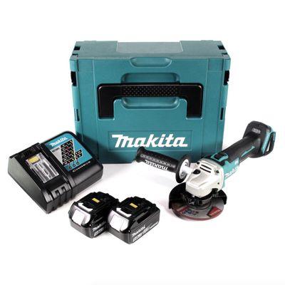 Makita DGA 504 RTJ 18 V Akku Winkelschleifer 125 mm Brushless im Makpac + 2 x 5,0 Ah Akku + Ladegerät – Bild 2