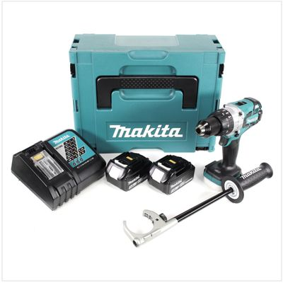 Makita DHP 481 RFJ 18V Akku Schlagbohrschrauber Brushless 115 Nm im Makpac mit 2x 3 Ah Li-Ion Akku und Schnellladegerät – Bild 2