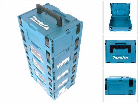 Makita Makpac 2 Transportbox Systemkoffer 5er Set – Bild 3