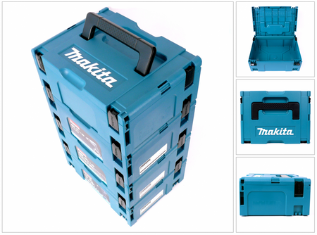 Makita Makpac 2 Transportbox Systemkoffer 4er Set – Bild 1