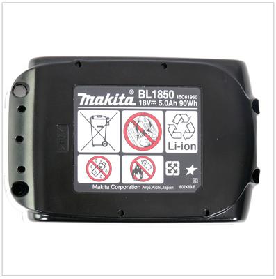 Makita BL 1850 B 18 V - 5,0 Ah Li-Ion Akku 2er Pack – Bild 5