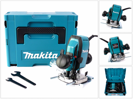 Makita RP 0900 J - 900 Watt Oberfräse 8 mm im MAKPAC Systemkoffer – Bild 1