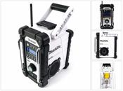Makita DMR 104 W Akku Baustellen Radio Weiß Solo - ohne Akkus und Ladegerät