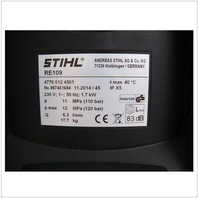 Stihl RE 109 Hochdruckreiniger 110 bar ( 4776 012 4511 ) – Bild 4