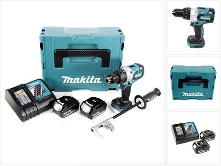 Makita DDF 481 RTJ 18V Akku Bohrschrauber brushless 115 Nm im Makpac mit 2x BL1850 5,0 Ah Akku und DC18RC Ladegerät – Bild 1