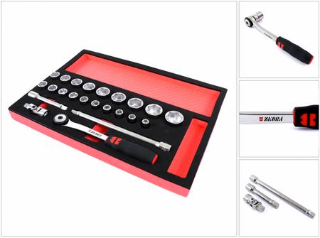 Würth ZEBRA Steckschlüssel Sortiment 1/2 Zoll mit Antriebswerkzeug ( 0965 900 202 ) – Bild 1