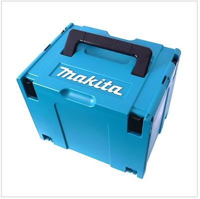 Makita DHR 243 RMJV 18 V Brushless Li-Ion Akku Kombihammer mit SDS-Plus Aufnahme im Makpac + DX 02 Staubabsaugung + 2x BL 1840  4,0 Ah Akku + 1x DC18RC Ladegerät – Bild 4