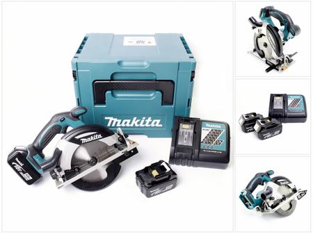 Makita DHS 630 RMJ 18 V Akku Handkreissäge im Makpac mit 2x 4,0 Ah Akku + Ladegerät – Bild 1