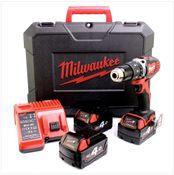 Milwaukee M18 BPD 403 C Akku Schlagbohrschrauber 18V 60Nm + 3x Akkus 4,0Ah + Ladegerät im Koffer