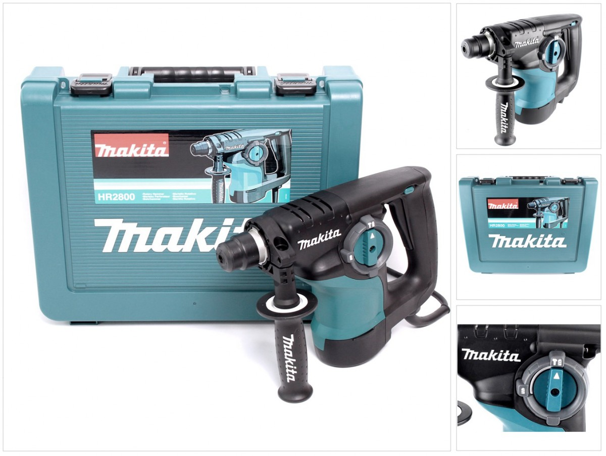 makita hr 2800 800 w kombi bohrhammer mit sds plus im transportkoffer ebay. Black Bedroom Furniture Sets. Home Design Ideas