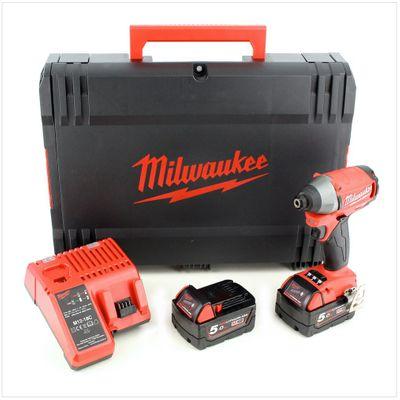 Milwaukee M18 CID 502 X 18 V Akku Schlagschrauber mit 2x 5 Ah Akku, Lader, Koffer – Bild 2
