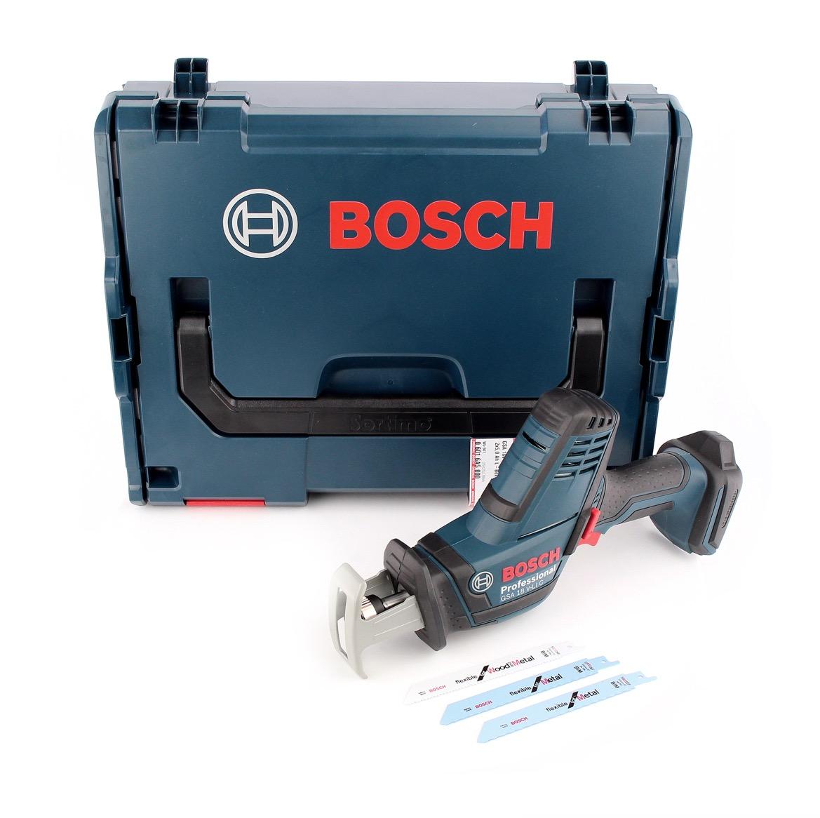 7ef733eb2be Bosch GSA 18V-Li C Akku Reciprosäge 18V ( 06016A5001 ) Säbelsäge Solo in  L-Boxx - ohne Akku, ohne Ladegerät
