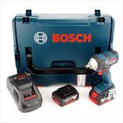 Bosch GDS 18 V-EC 250 Professional brushless Akku Dreh Schlagschrauber mit L-Boxx, Schnellladegerät und 2x GBA 6 Ah Akku